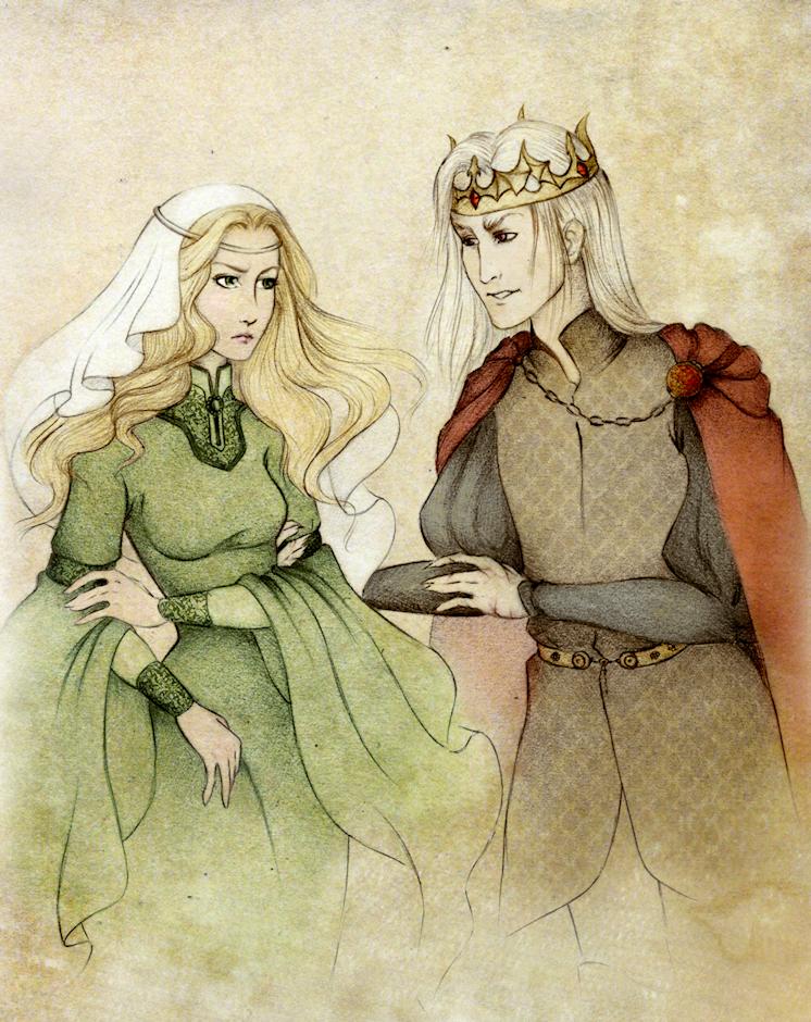 Aerys ii targaryen and joanna.png