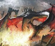 Balerion spitting fire