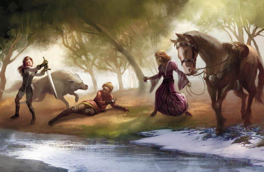 Arya stark and joffrey baratheon.jpg