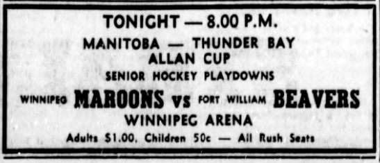1957-58 Western Canada Allan Cup Playoffs