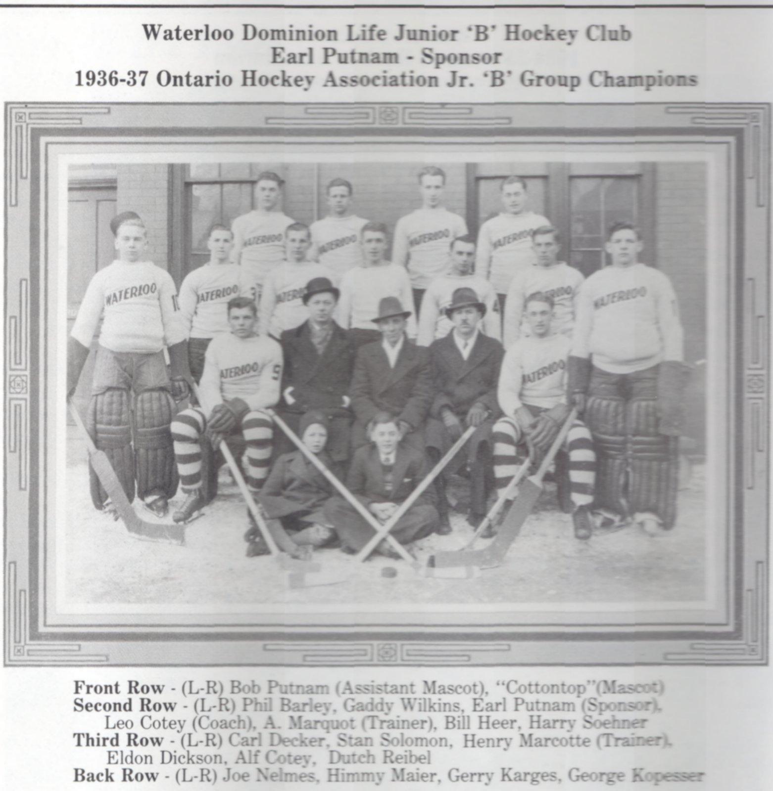 1936-37 OHA Junior B Groupings