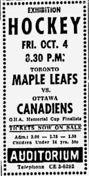 1957–58 Toronto Maple Leafs season