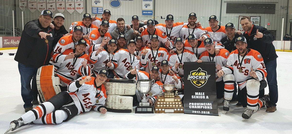 2017-18 Ste. Anne Aces Manitoba Senior A Hockey Playoffs