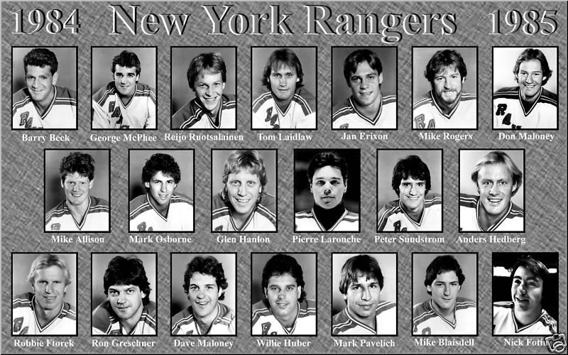 1984–85 New York Rangers season