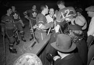 27March1945-Penalty box Fillion, Stanowski, Schriner, Chamberlain