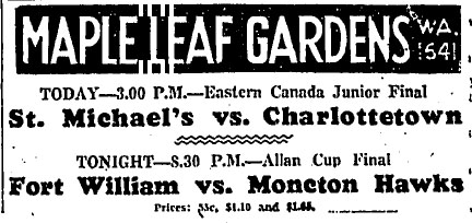 1933-34 Eastern Canada Memorial Cup Playoffs