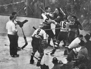 28March1939-Bruins NYR melee1