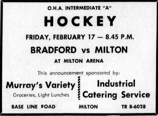 1960-61 OHA Intermediate A Groups