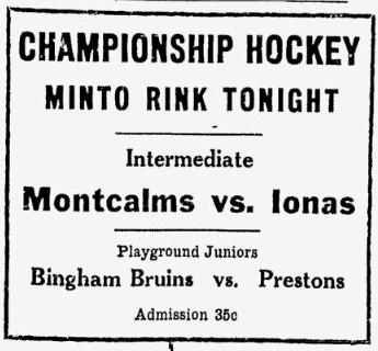 1931-32 Ottawa City Outdoor JHL