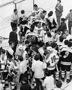 10May1970-Bruins Blues handshake line