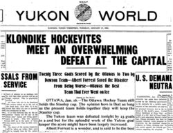 Report after the overwhelming defeat.