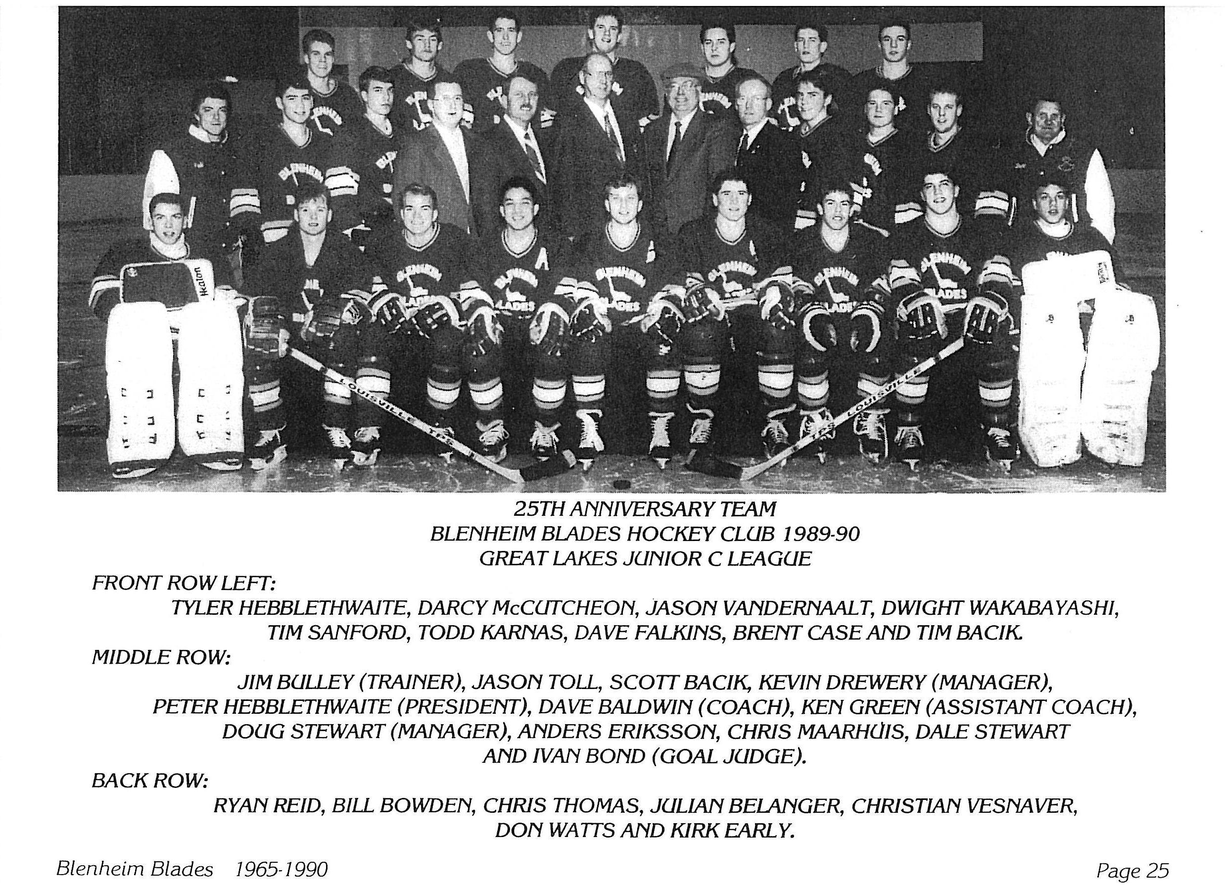 1989-90 GLJHL Season
