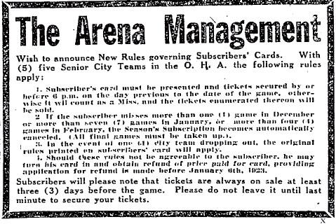 1922-23 OHA Senior Season
