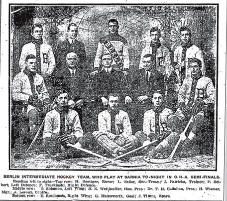 1913-14 OHA Intermediate Groups