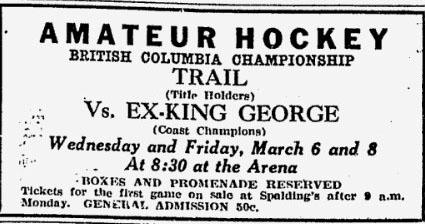 1928-29 British Columbia Senior Playoffs