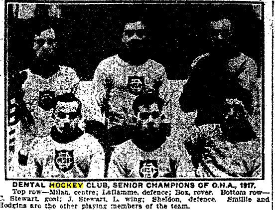 1916-17 OHA Senior Season