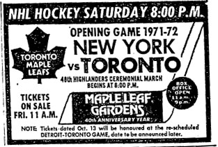 1971–72 Toronto Maple Leafs season