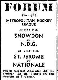 1959-60 MetMtlHL Season