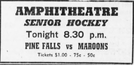 1952-53 Manitoba Senior Hockey League Season