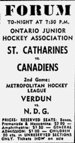 1964-65 MetMtlHL Season