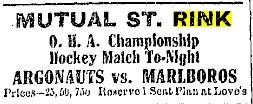 1906-07 OHA Senior Season