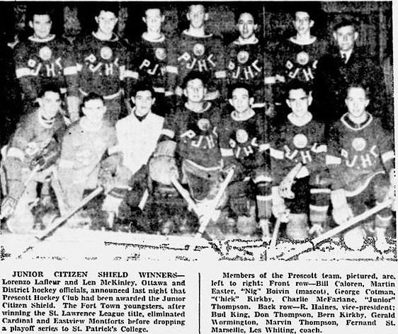 1944-45 Ottawa District Junior Playoffs