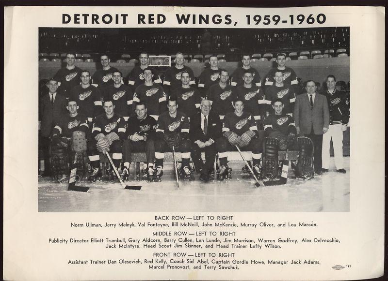 1959–60 Detroit Red Wings season