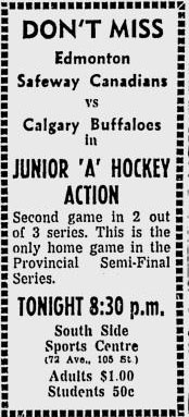 1963-64 Alberta Junior Playoffs
