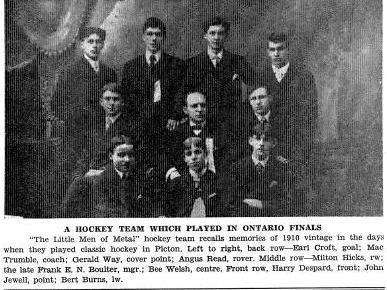 1909-10 OHA Junior Season