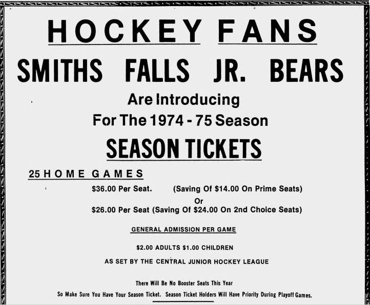 1974-75 CJHL Season