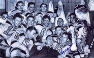 1941 Bruins celebrate