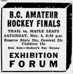 1932-33 British Columbia Senior Playoffs