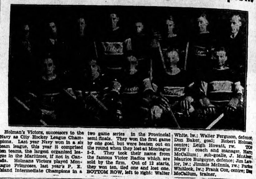 1934-35 PEI Intermediate playoffs