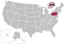 Eastern States Collegiate Hockey League locations