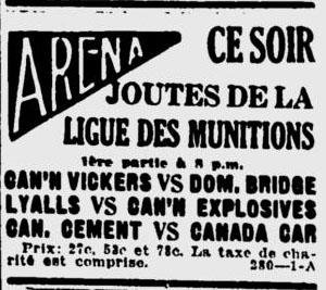 Montreal Munitions League