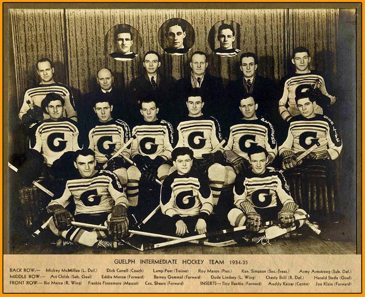 1934-35 OHA Intermediate A Group 3