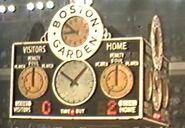 Boston Garden Score clock pre-1968-69