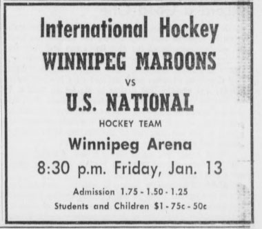 1960-61 Winnipeg Maroons season