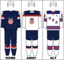 USA national hockey team jerseys - 2014 Winter Olympics