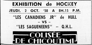 1958-59 Ottawa-Hull Canadiens season