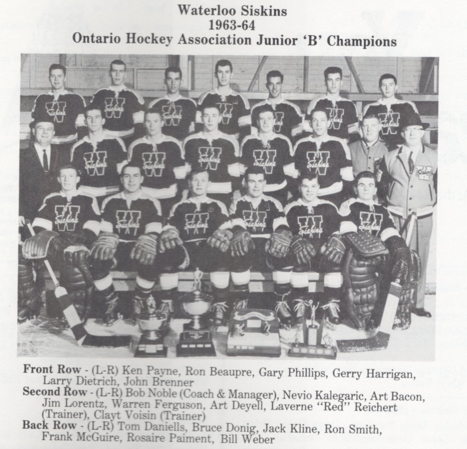 1963-64 Sutherland Cup Championship