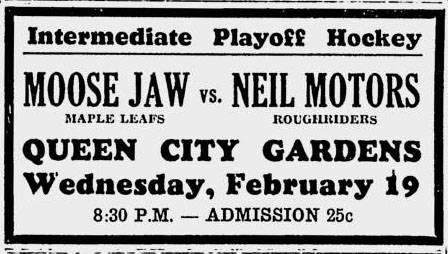 1940-41 Saskatchewan Intermediate Playoffs