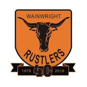 Wainwright Rustlers 40th anniversary logo.jpg