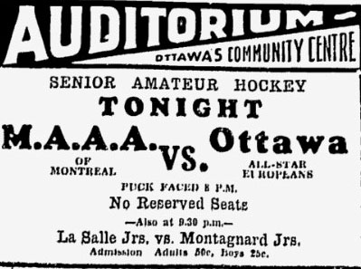 1931-32 Ottawa City Senior League All Stars