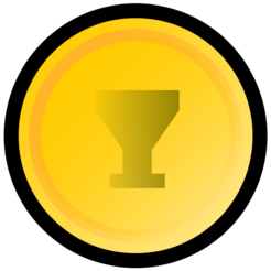 Gold medal with cup.png