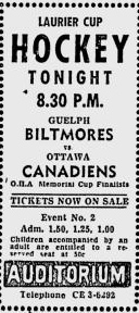 1957-58 Laurier Cup