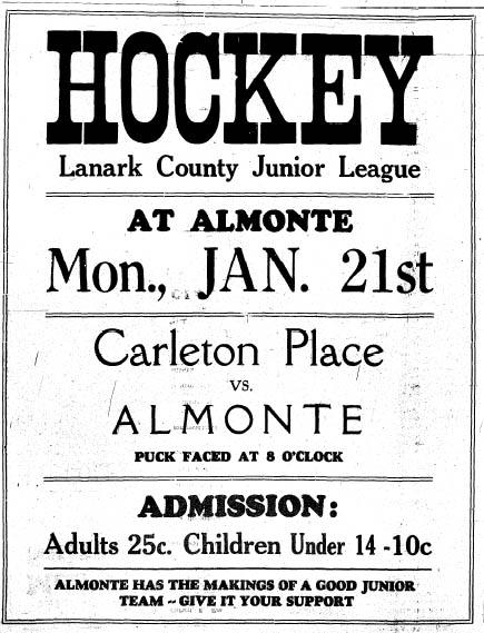 1934-35 Lanark Jr Season