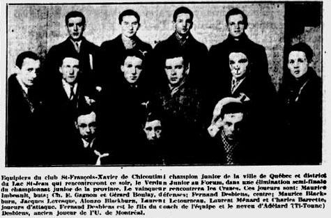 1934-35 Quebec Junior Playoffs