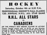 12th National Hockey League All-Star Game