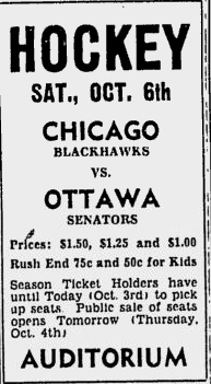 1951–52 Chicago Black Hawks season